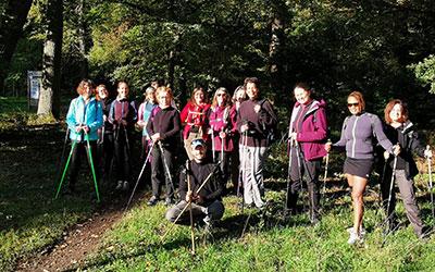Marche nordique week-end forêt